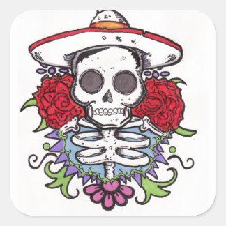 Skull rose stickers