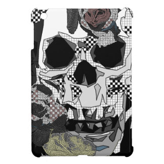 Skull Roses Checks Art Image iPad Mini Covers