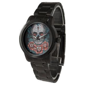 Skull & Roses Oversized Black Watch