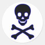 skull round stickers