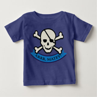 Skull - Royal Blue Baby Fine Jersey T-Shirt