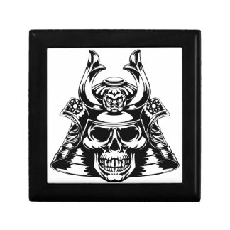 Skull Samurai Small Square Gift Box