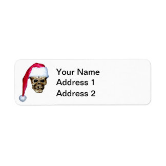 Skull Santa Return Address Label
