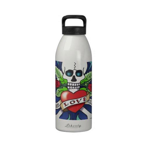 skull, Schädel, crâne, cráneo, crânio, doodshoofd Drinking Bottle