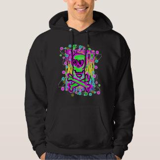 Skull Scribble Tiger Print Rainbow Hoodie