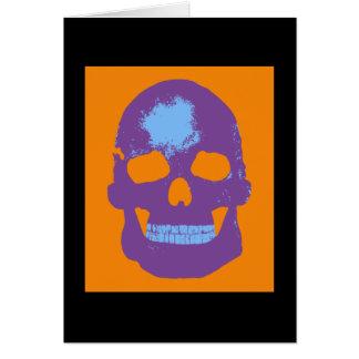 Skull Silk Screen Greeting Card