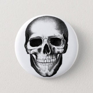 Skull Skeleton Head Scary Creepy Halloween 6 Cm Round Badge