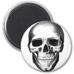 Skull Skeleton Head Scary Creepy Halloween 6 Cm Round Magnet