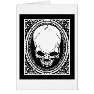 Skull ~ Skeleton Skulls Gothic Black Greeting Card
