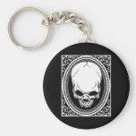 Skull ~ Skeleton Skulls Gothic Black Keychain