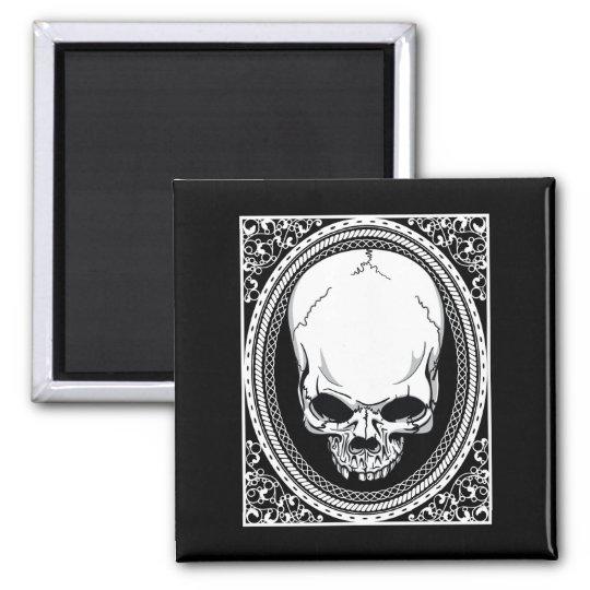 Skull ~ Skeleton Skulls Gothic Black Magnet