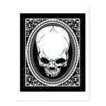 Skull ~ Skeleton Skulls Gothic Black Postcard