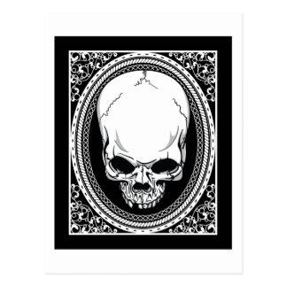 Skull Skeleton Skulls Gothic Black Post Cards