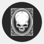 Skull ~ Skeleton Skulls Gothic Black Classic Round Sticker