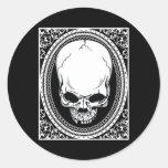 Skull ~ Skeleton Skulls Gothic Black Sticker