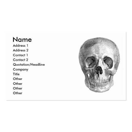 Skull Sketch perfect for Halloween party needs! Business Card Template
