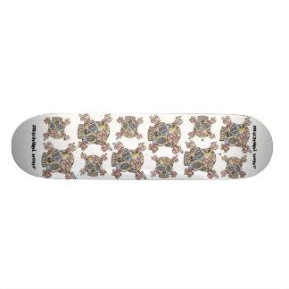 skull, skull, skull, skull, skull, skull, skull... skate board deck
