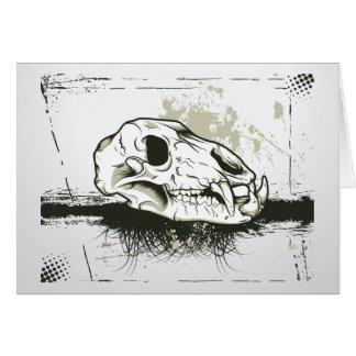Skull Skulls Animal Skeleton Greeting Cards