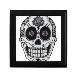 skull small square gift box