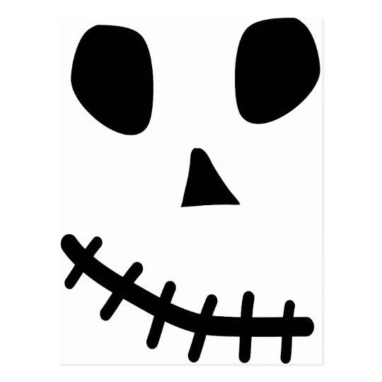 skull smile postcard