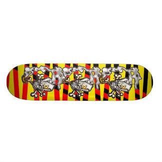 Skull Smoking Pipe Skateboard Deck