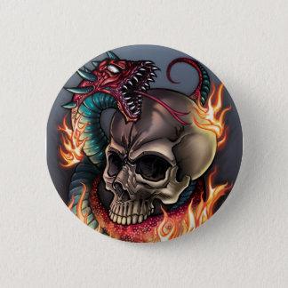 Skull + Snake 6 Cm Round Badge