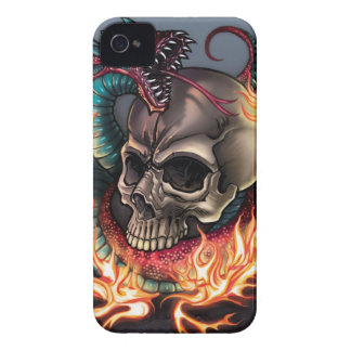 Skull + Snake iPhone 4 Case-Mate Case
