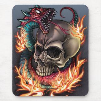 Skull + Snake Mouse Pad