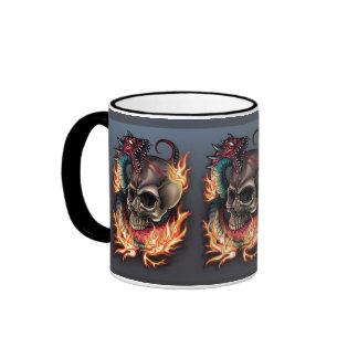 Skull + Snake Ringer Mug
