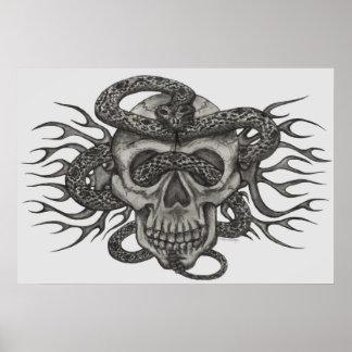 skull & snake poster