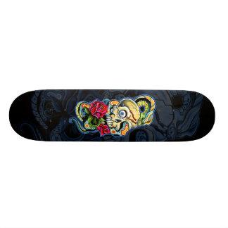 Skull Snake Roses Design 21.3 Cm Mini Skateboard Deck