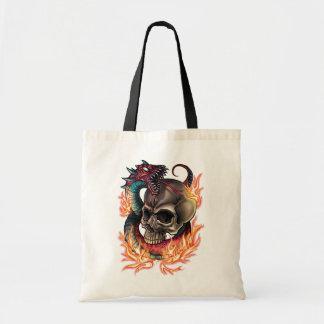 Skull + Snake Tote Bag