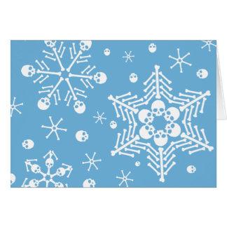 Skull Snowflakes Greeting Card