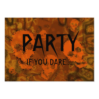 Skull Spectres Orange 'Party..If you dare' Card