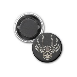 Skull Spider 3 Cm Round Magnet