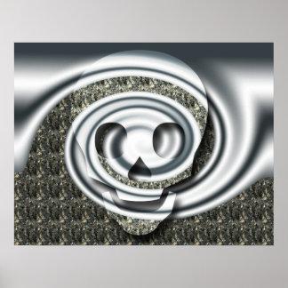 Skull spiral print
