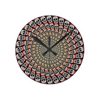 Skull Spiral: Wall Clock
