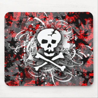 Skull Splatter Mousepads