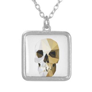 skull square pendant necklace