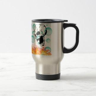skull stainless steel travel mug