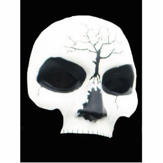 skull standing photo sculpture