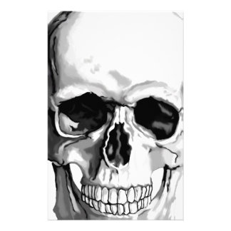 Skull Personalized Stationery