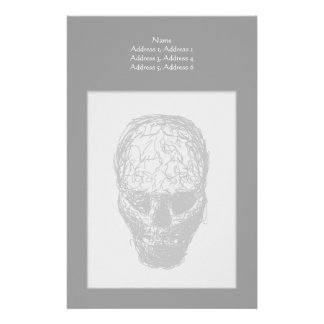Skull. Stationery