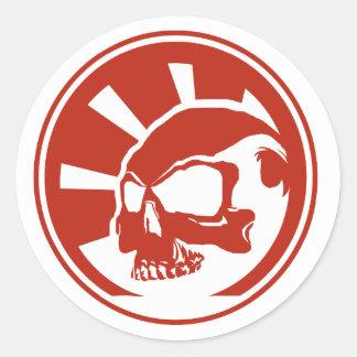 Skull Sticker Red