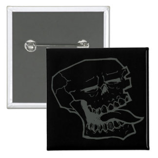 Skull Sticking Tongue Out 15 Cm Square Badge
