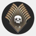 Skull & Sticks Classic Round Sticker