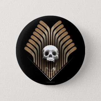 Skull & Sticks (Hockey) 6 Cm Round Badge