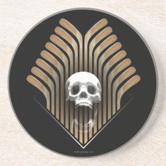 Skull & Sticks (Hockey) Coaster