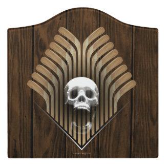Skull & Sticks (Hockey) Door Sign