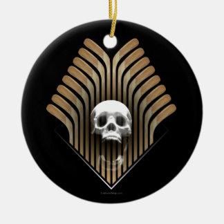 Skull & Sticks (Hockey) Round Ceramic Decoration